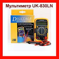 Мультиметр UK-830LN малогабаритный мультиметр с подсветкой дисплея и защитным кожухом