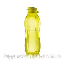 Бутылка Эко чистый полимер 1,5 л с винтовой крышкой с клапаном в цвете лайм