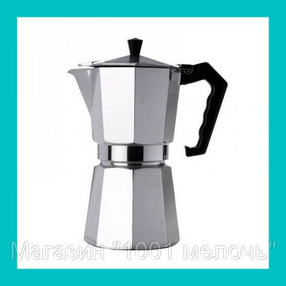 Гейзер кофеварка UNIQUE UN-1912 (KP1-6) алюминий