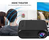 Портативный проектор Projector LED YG320 Mini с динамиком, фото 7