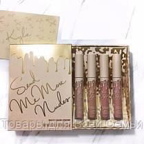 Набор из 4 жидких помад Kylie Cosmetics Send Me More Nudes - Matte Lipstick (МАТОВАЯ)!Хит цена, фото 3