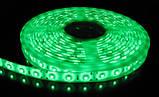 Стрічка зелена 4,8W/м 60LED/м IP65 світлодіодна 8mm MTK-300GF3528-12 №1, фото 4