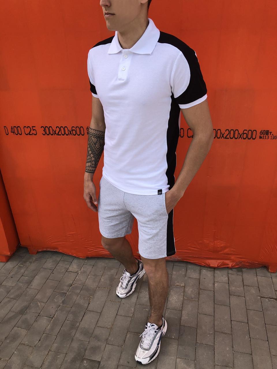 """🔥 Футболка Поло Pobedov """"Spartak"""" White"""