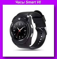 Часы Smart V8, смарт-часов с круглым циферблатом,Часы TFT-дисплей