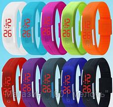 SALE! ЦЕНА ЗА 4 ШТ Спортивные часы-браслет КОРИЧЕВЫЕ, фото 3