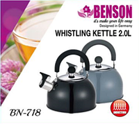 Чайник Benson BN-718 со свистком (2 литра, 3 цвета)