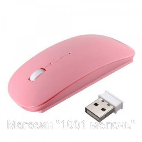Беспроводная компьютерная мышь Apple розовая, фото 2