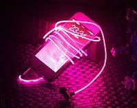 Cветящиеся Led наушники Pink