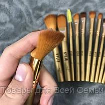 Кисточки для макияжа Kylie (12шт) Profesional brush set- Golden!Хит цена, фото 3