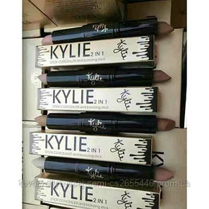 Консилер и бронзер Kylie concealer and bronzing stick 2 in 1 упаковка!Хит цена, фото 2