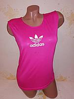 Женская майка Adidas (реплика), хлопок 44-46  размер