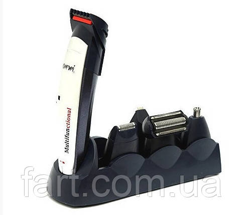 Аккумуляторная машинка для стрижки Gemei Gm-591, 5 в 1 (набор для стрижки волос и бороды)