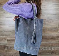 Женская сумка из натуральной замши, фото 2