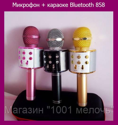 Микрофон + караоке Bluetooth 858