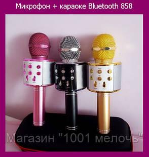 Микрофон + караоке Bluetooth 858, фото 2