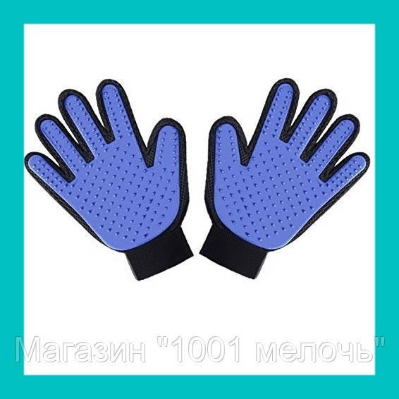 Перчатка для животных Pet Gloves синие