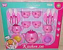 Набір іграшкової посуду 15 предметів Чайний сервіз на 4 персони, рожевий, фото 2
