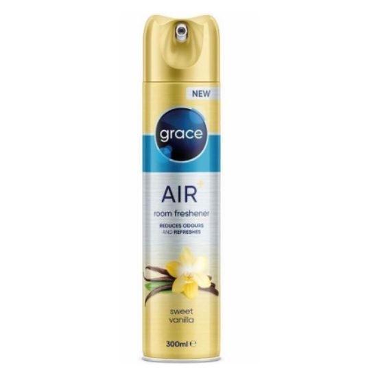 Освіжувач повітря аерозольний флакон Grace Air + Sweet vanilla 300 мл (Ваніль)
