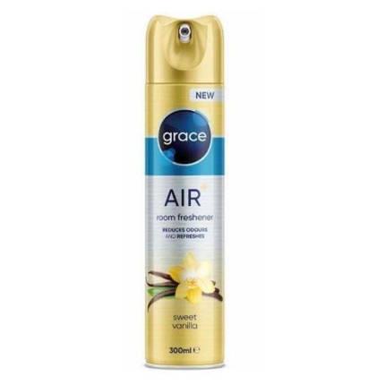 Освіжувач повітря аерозольний флакон Grace Air + Sweet vanilla 300 мл (Ваніль), фото 2