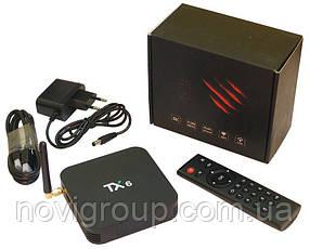 Медіа приставка TX-6 4/64G Smart TV Box (Android 9.0, ОЗУ 4 Гб, 64Гб вбудованої пам'яті,