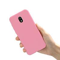 Чехол Style для Xiaomi Redmi 8A Бампер силиконовый Розовый