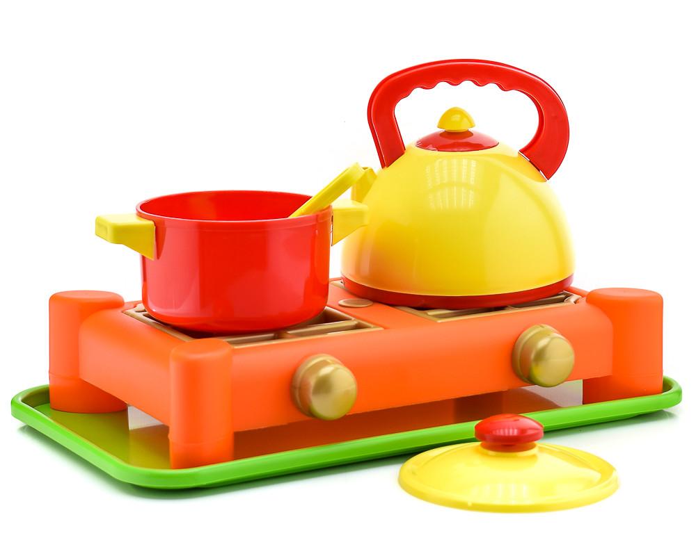 Игрушечная газовая плита с посудкой  70408