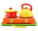 Игрушечная газовая плита с посудкой  70408, фото 2