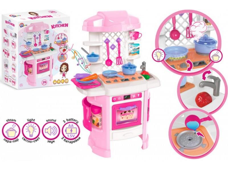 Кухня игрушечная (посуда, свет, звук)  ТЕХНОК 6696