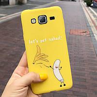 Чехол Style для Samsung J5 2015 / J500 Бампер силиконовый Желтый Banana