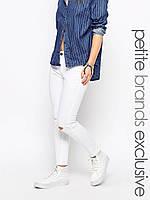 """Узкие джинсы с вырезами и необработанным краем Noisy May ASV290521-6 26"""" (7899326"""") Белый"""