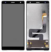 Дисплей (LCD) Sony H8266 Xperia XZ2 с тачскрином, черный, оригинал (PRC)