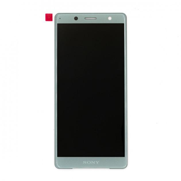 Дисплей (LCD) Sony H8314 Xperia XZ2 Compact з тачскріном, зелений, оригінал (PRC)