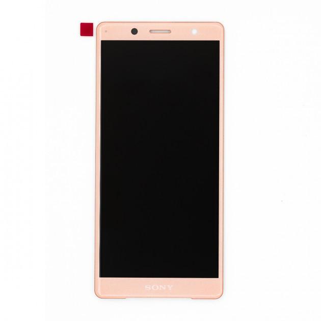 Дисплей (LCD) Sony H8314 Xperia XZ2 Compact с тачскрином, розовый, оригинал (PRC)