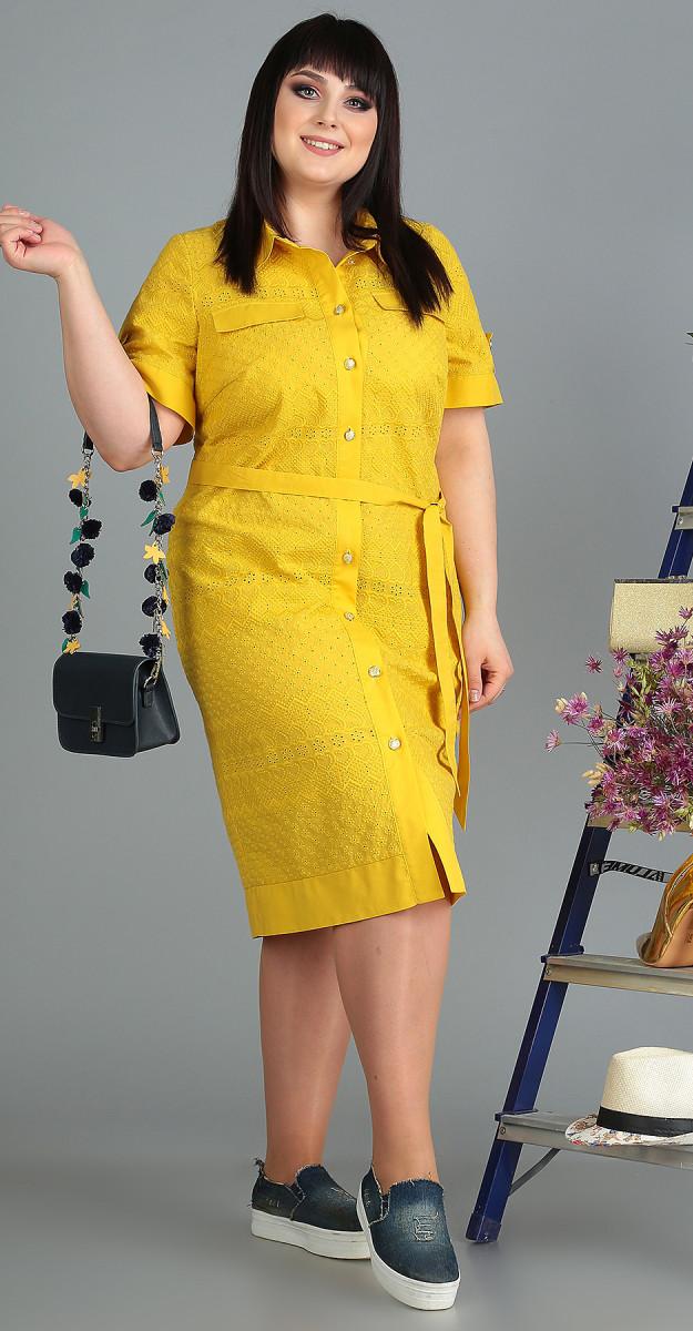 Платье Novella Sharm-3493 белорусский трикотаж, желтый, 62