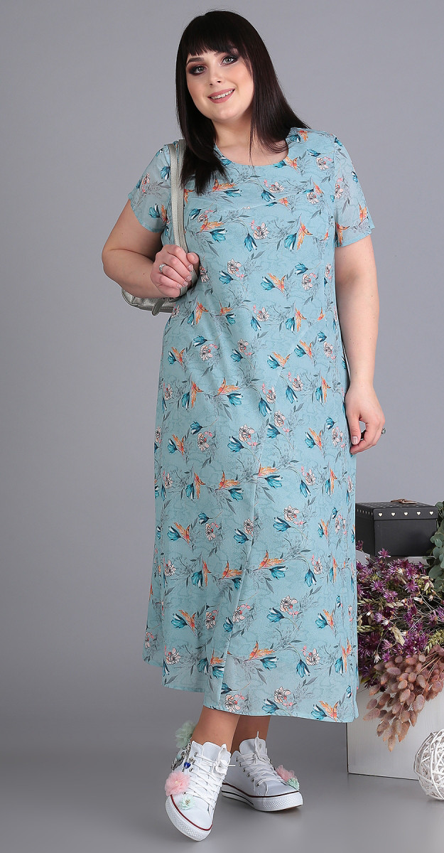 Платье Novella Sharm-3507 белорусский трикотаж, голубой, 62