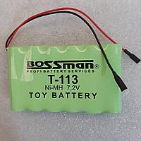 Аккумуляторы для детских машинок   Bossman T113 NiMh 7,2V 2000mAh