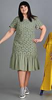 Платье Novella Sharm-3524-4 белорусский трикотаж, олива, 60