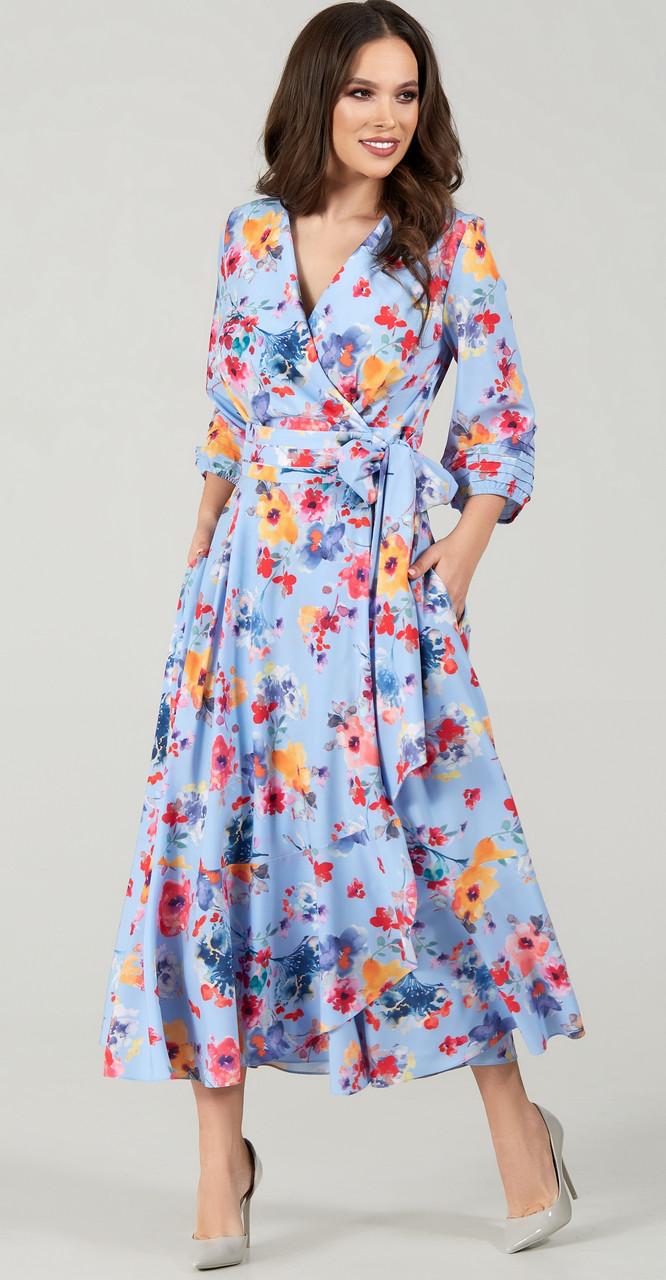 Платье TEFFI style-1483/2 белорусский трикотаж, акварель, 48