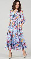 Платье TEFFI style-1483/2 белорусский трикотаж, акварель, 48, фото 1