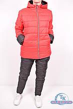 Костюм спортивный женский (цв.красный) из плащевки на флисе T23 Размер:46