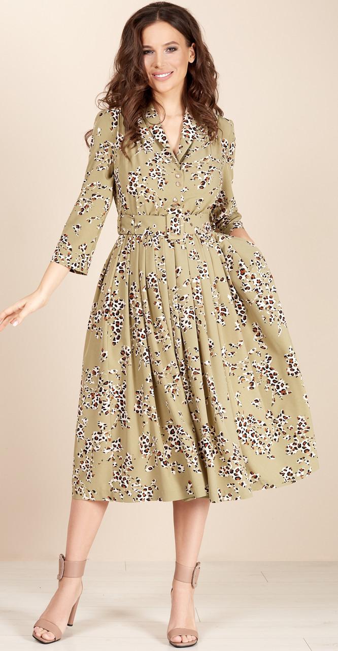 Платье TEFFI style-1425/1-9 белорусский трикотаж, зеленый, 44