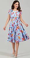 Платье TEFFI style-1332/1 белорусский трикотаж, акварель, 46