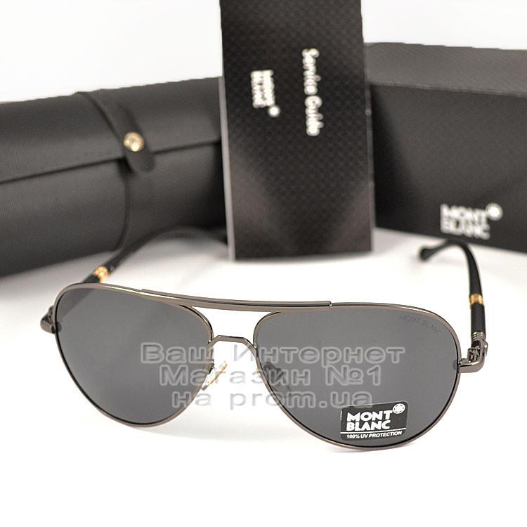 Мужские солнцезащитные очки Montblanc Авиаторы с поляризацией для водителей Поляризационные Mont blanc реплика