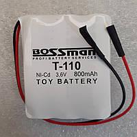 Аккумуляторы для детских машинок   Bossman T110 NiCa 3,6V 800mAh