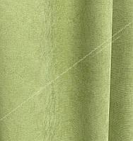 Шторная ткань, однотонная ткань для штор на метраж Далтон нежный салатовый цвет