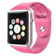 Умные часы Smart Watch GSM Camera A1, Розовые