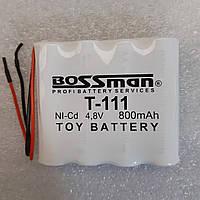 Аккумуляторы для детских машинок   Bossman T111 NiCa 4,8V 800mAh