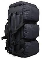 Сумка-рюкзак тактическая xs-90l3 черная, 90 л