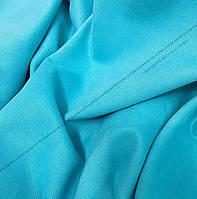 Шторная ткань, однотонная ткань для штор на метраж Далтон в ярко голубом цвете