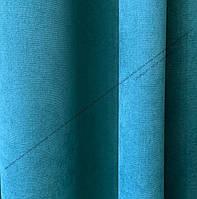Шторная ткань, однотонная ткань для штор на метраж Далтон в бирюзовом цвете